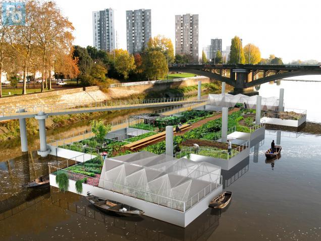 jardin flottant jardiner en ville